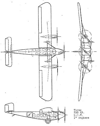 Rohrbach Roland - Rohrbach Ro.VIII 3-view drawing from NACA Aircraft Circular No.24
