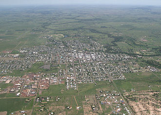 Roma, Queensland - Aerial view of Romá