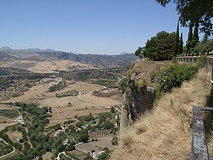Serranía de Ronda - Looking from a park in Ronda to the countryside below.