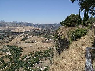 Serranía de Ronda - Looking from a park in Ronda to the countryside below.