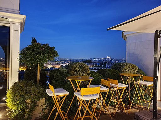 Rooftop at the Hôtel Raphael in Paris - 2019-08-24