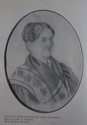 Agustina López de Osornio - Image: Rosas 002