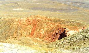 Bogdo-Baskunchak Nature Reserve - Image: Roten Felsen am Bolschoje Bogdo