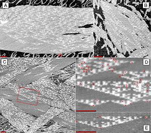 DNA computing - Image: Rothemund DNA Sierpinski Gasket