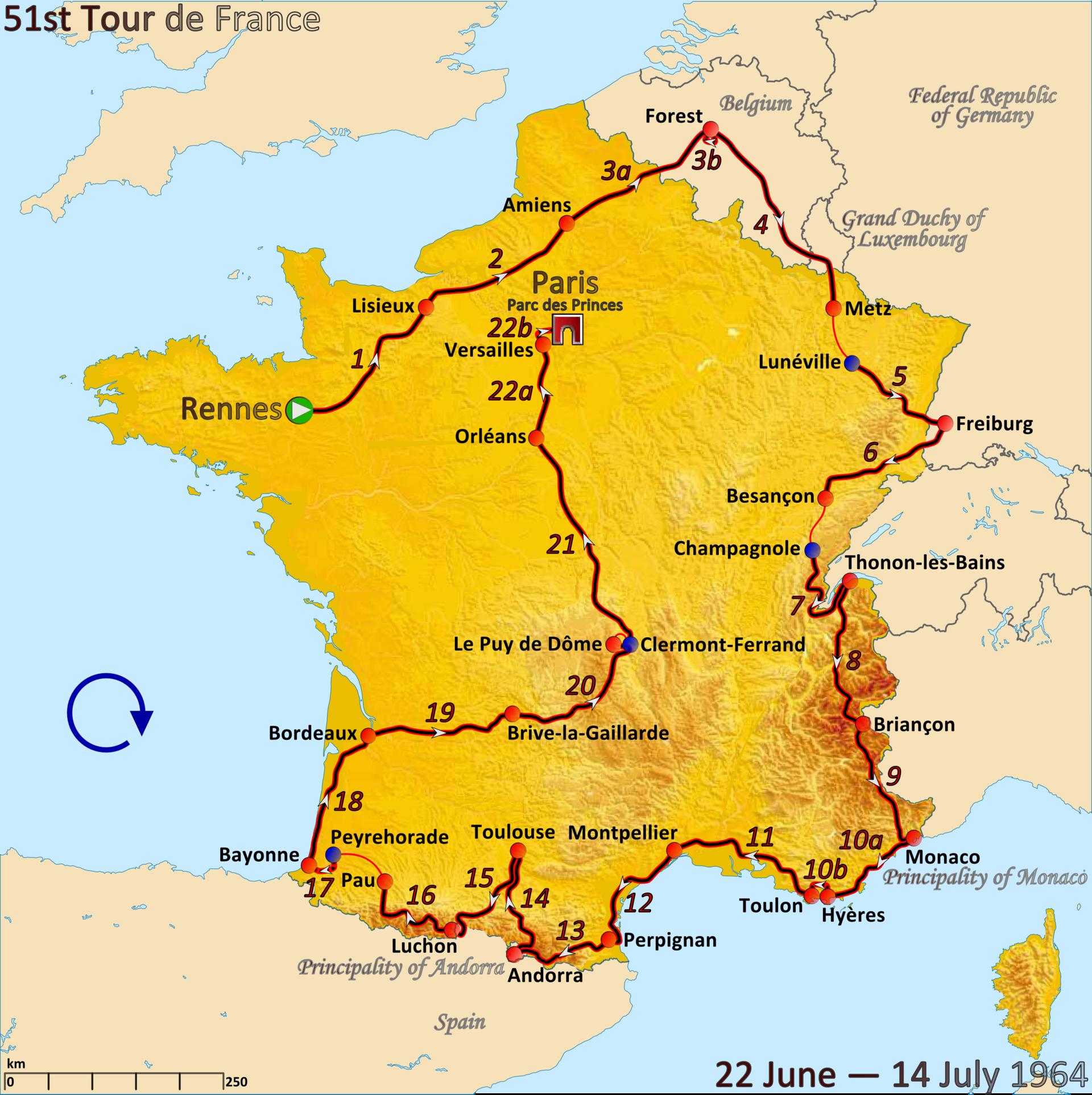 tour de france 2019 route and dates