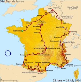 1964 Tour de France cycling race
