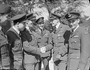 Non-British personnel in the RAF during the Battle of Britain - Belgian pilots of No. 609 Squadron RAF
