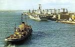 Royal Navy aircraft carriers at Portsmouth, in July 1967.jpg