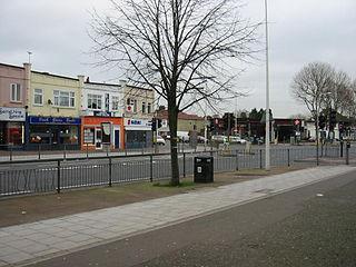 suburban area of East London, England