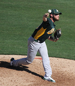 Ryan Cook (baseball) - Cook with the Oakland Athletics