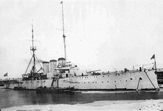 Russian cruiser Rurik (1906) - Rurik at Reval (Tallinn) 1915-1916