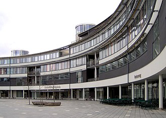 Flemingsberg - Moa's Crescent, the main building of Södertörn University College