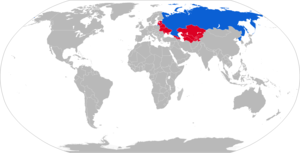S-25 Berkut - Map with S-25 operators in blue and former operators in red