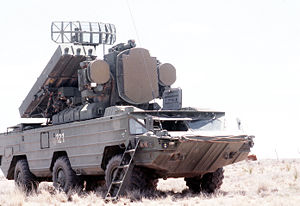 January 2013 Rif Dimashq airstrike - SA-8 surface-to-air missile system, similar to ones shown on a Syrian television footage broadcast