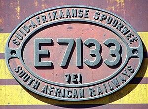 South African Class 7E1 - Image: SAR Class 7E1 E7133 ID
