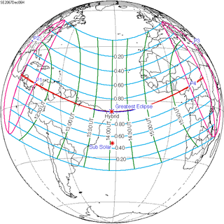 Solar eclipse of December 6, 2067