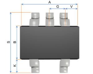 Small-outline transistor - Image: SOT 353 OKÓTOVANý NáRYS K NAHRáTí
