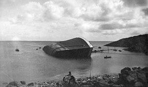 USS Zeppelin (1914) - SS Dresden sunk in Boknafjord, 1934.