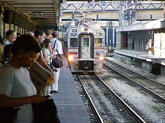Van Buren Street station - Image: S Shore at Van Buren St Station