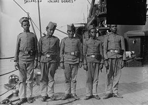 Brazilian Marine Corps - Image: Sailors of Minas Geraes