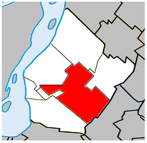 Saint-Hubert, Quebec - Image: Saint Hubert Quebec location diagram