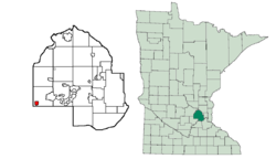 Location of Saint Bonifaciuswithin Hennepin County, Minnesota