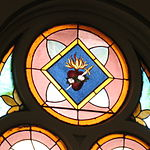 Saint Anthony Catholic Church (Temperance, MI) - stained glass, Immaculate Heart.jpg