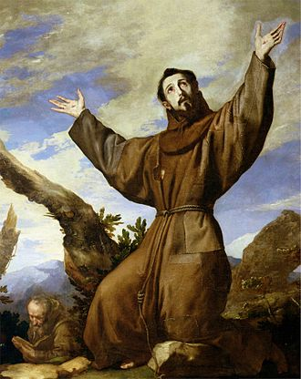 Open-air preaching - St. Francis of Assisi