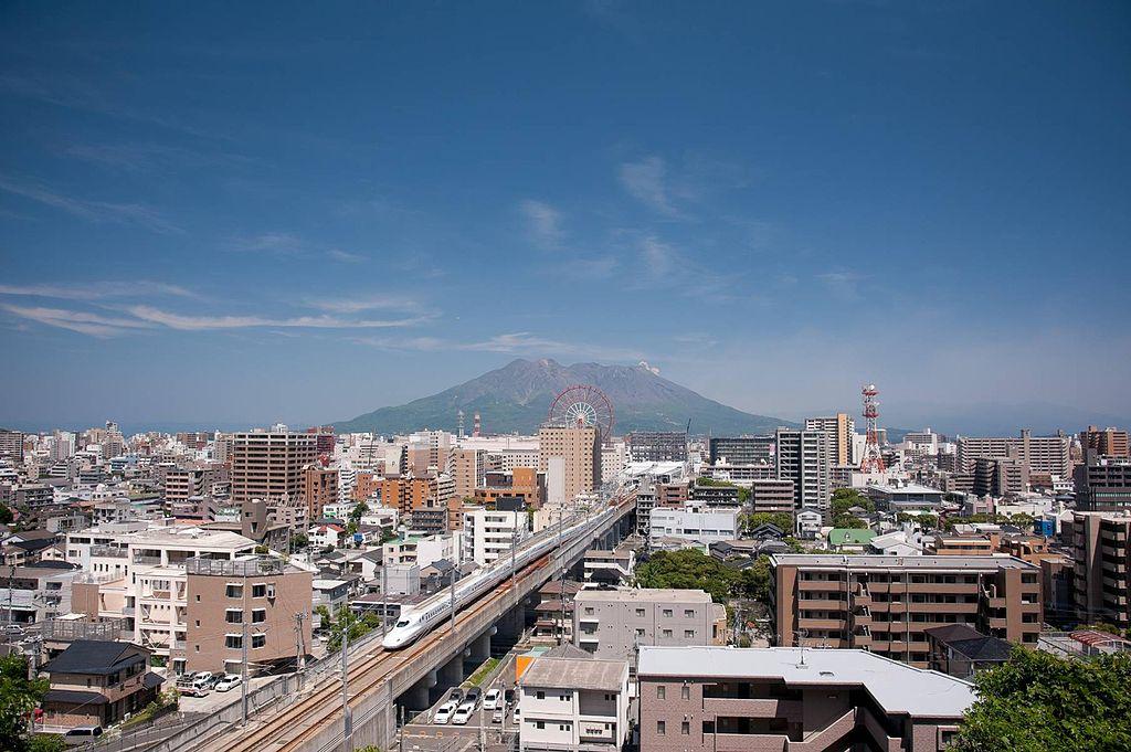Kagoshima City Skyline and Sakurajima