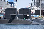 Sale of JS Seiryū(SS-509) & Oyashio class submarine right front view at U.S. Fleet Activities Yokosuka April 30, 2018.jpg