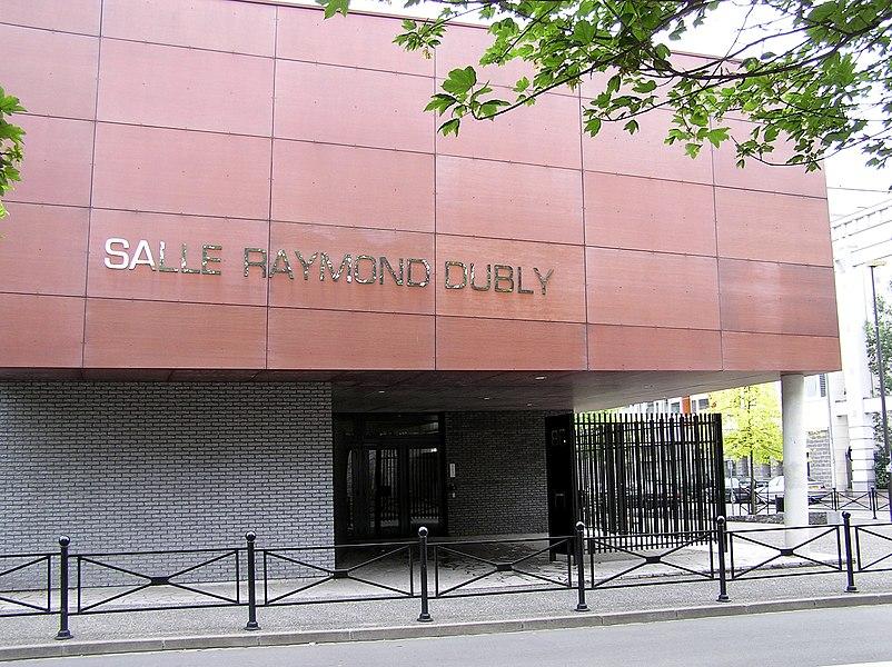 The sport center Salle Raymond Dubly in Roubaix, France named for the local football star and national team player Raymond Dubly