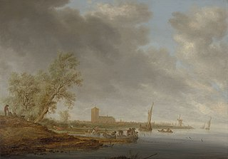 River Landscape with a View of Naarden