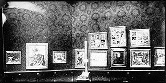 Proto-Cubism - View of the Salon d'Automne, 1904, Salle Cézanne (Pommes et gâteaux, Mme Cézanne au chapeau vert, le plat de pommes, le vase de tulipes, etc.) photograph by Ambroise Vollard