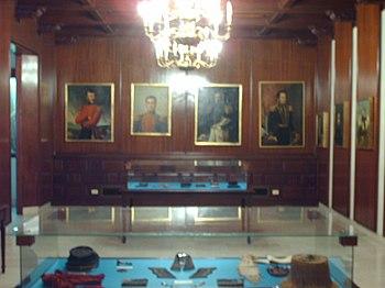 Uno de los salones del museo