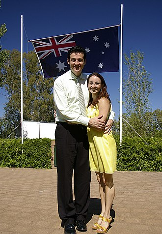 The Wiggles - Sam Moran and wife Lyn on Australia Day 2009