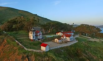 Point San Luis Light - Aerial View of San Luis Obispo Lighthouse, March 2016