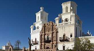 Architecture of the United States - Mission San Xavier del Bac near Tucson, Arizona.