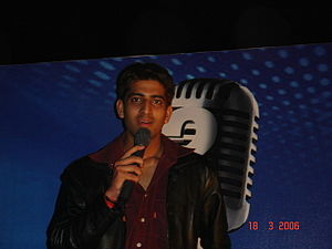 Sandeep Acharya - Sandeep Acharya at a stage show in Ahmedabad.