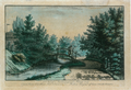 Sanderumgaard 02 of 12 Udsigt i Hauge koloreret 1798 Clemens.png