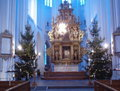 Sankt Petri kyrka, Malmö, altar in December.jpg