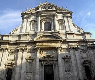 Sant'Ignazio Church, Rome - Façade of Sant'Ignazio