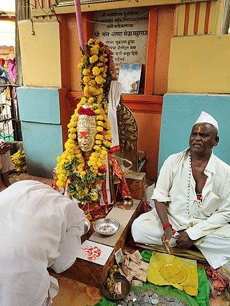 Chokhamela - Statue of Sant Chokhamela at his Samadhi in Pandharpur