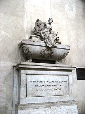 Niccolò Machiavelli - Machiavelli's cenotaph in the Santa Croce Church in Florence