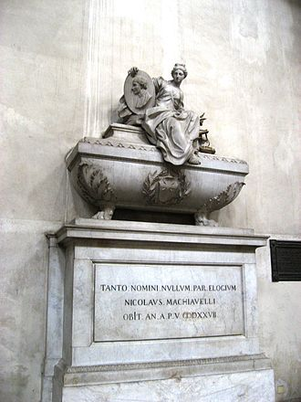 Niccolò Machiavelli - Machiavelli's cenotaph in the Santa Croce Church in Florence