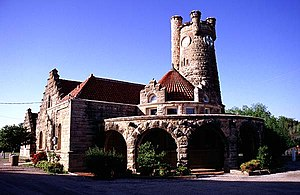 English: The Santa Fe Depot in Shawnee, Oklahoma.