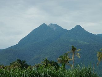 Mount Makiling - Close-up view of Makiling summit from Santo Tomas