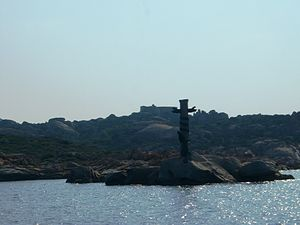 Maddalena archipelago - Memorial for the dead of Roma battleship's sinking