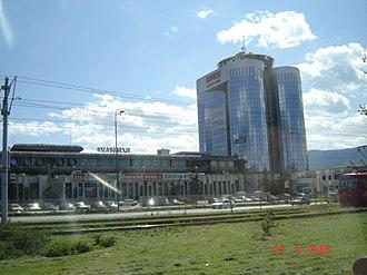 Oslobođenje - The headquarters of Sarajevo-based daily newspapers Oslobodjenje and Dnevni Avaz, in 2005