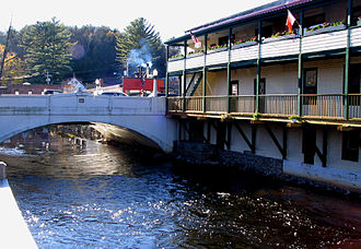 Saranac River - Image: Saranac Lake Saranac River bridge