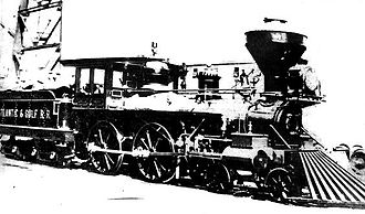 Valdosta, Georgia - The Satilla No. 3 was the first train to arrive in Valdosta on July 4, 1860.